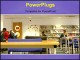 PowerPoint Template - Students Studying at a library