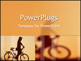 PowerPoint Template - Man with bike stops to think