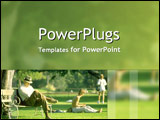 PowerPoint Template - Age metaphor with senior an youth