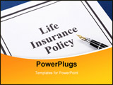 PowerPoint Template - Document of Life Insurance Policy for background