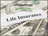 PowerPoint Template - Headline of Life Insurance for background use