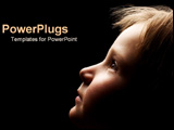 PowerPoint Template - Child looking up at light.
