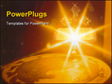 PowerPoint Template - Bible with gold cross in background and candle light