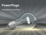 PowerPoint Template - Light bulb with glowing text idea. 3d