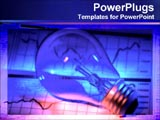PowerPoint Template - blue light bulb