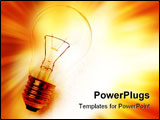PowerPoint Template - Light bulb on bright background. Copy space