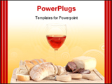 PowerPoint Template - A set of food with red wine isolated on white