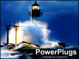 PowerPoint Template - Lighthouse in a storm