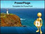 PowerPoint Template - Kilauea Lighthouse in northern Kauai Hawaiian Islands