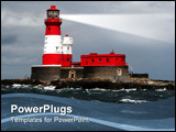 PowerPoint Template - a light house in stormy weather with dark clouds