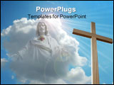 PowerPoint Template - Light from a cloud shining on cross