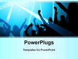 PowerPoint Template - Stage lights and a crowd of fans