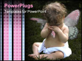 PowerPoint Template - tearful baby fairy with torn wing