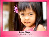 PowerPoint Template - Little girl looking adorably at camera.