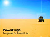 PowerPoint Template - car in the lonely desert
