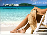 PowerPoint Template - woman lounging in bamboo chair at the beach in the caribbean