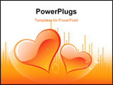PowerPoint Template - Illustration of two love symbols with background