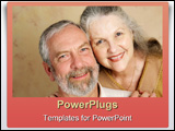 PowerPoint Template - portrait of a beautiful gray haired middle aged couple in love.