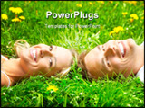 PowerPoint Template - Young love couple on the green grass