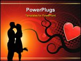 PowerPoint Template - ditable abstract Valentines day background with space for your text. More images like this in my po