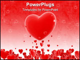 PowerPoint Template - Red hearts flying out from little hearts cloud