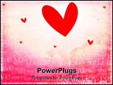 PowerPoint Template - abstract computer generated valentine Illustration with heart