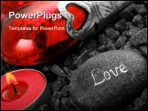 PowerPoint Template - love still live with heart candle and a love stone.