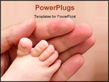 PowerPoint Template - happy father shoot close up touching is son