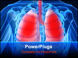 PowerPoint Template - 3d rendered illustration of human lungs with an infection