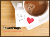 PowerPoint Template - a love note with a cup of coffee on the table