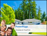PowerPoint Template - Luxury house at sunny day in Vancouver, Canada.