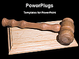 PowerPoint Template - image of quality hardwood gavel