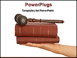 PowerPoint Template - person holding gavel and books