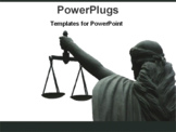 PowerPoint Template - goddess of justice
