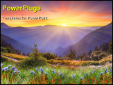PowerPoint Template - Majestic sunset in the mountains landscape