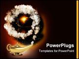 PowerPoint Template - Symbol performance of desires - magic lamp