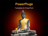 PowerPoint Template - Buddha at the temple of Wat Mahatat in Ayutthaya near Bangkok Thailand.