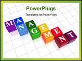 PowerPoint Template - 3d colour boxes with text - management word