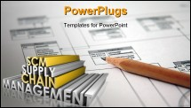 PowerPoint Template - Supply Chain Management SCM Industry in 3d