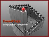 PowerPoint Template - top manager (red leader 3d conceptual images)