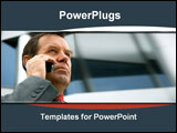 PowerPoint Template - Business man on talking on the cell phone