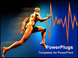 PowerPoint Template - Man running - this is a 3D render illustration