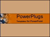 PowerPoint Template - Tan and orange overlays of aluminum cans and fogs