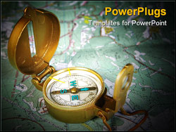 PowerPoint Template - compass device that used for navigation