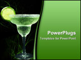 PowerPoint Template - margarita with lime and salt isolated on black