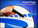PowerPoint Template - The stock market graphs monitoring and accounting.