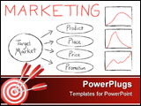 PowerPoint Template - Flow chart illustrating the basics of target marketing.