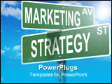 PowerPoint Template - Business slogans on a road and street signs