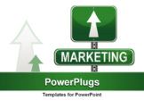 PowerPoint Template - Marketing Strategy sign. vector file also available.