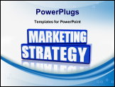 PowerPoint Template - marketing strategy - 3d text over blue rectangles
